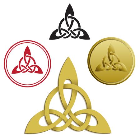 triskele: Triskele, triskelion, ancient Greece and Celtic symbol. Vector image.