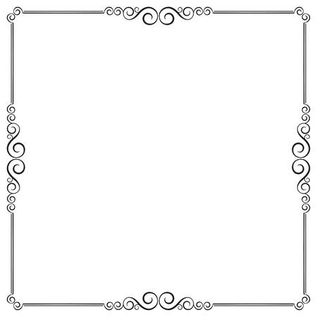 Decorative black square frame.