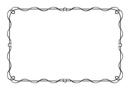 Decorative black rectangular frame.