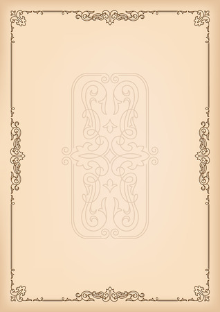 advertisements: Decorative template for texts, certificates, advertisements. A4 page format.