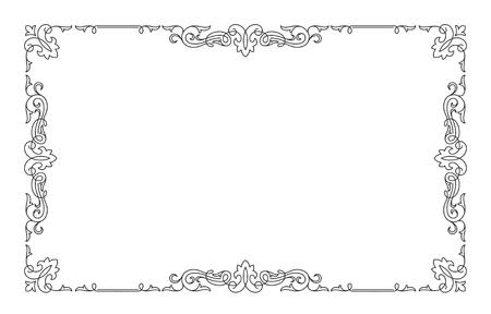 rectangular: Decorative black rectangular frame.