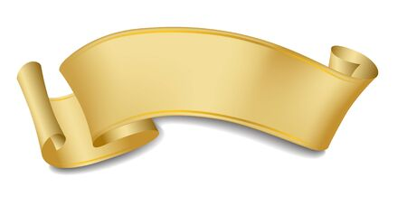 scroll: Scroll, ribbon, label, gold gradients.