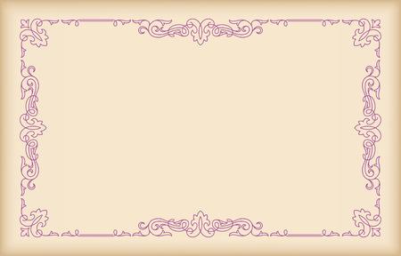 Decorative rectangular frame on light background.