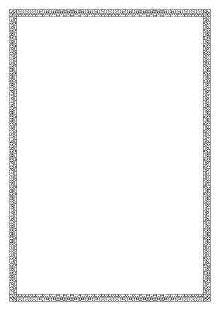 장식 블랙 프레임, 아랍어, 동양 스타일. 패턴 브러쉬가 포함되어 있습니다. A4 페이지 형식.