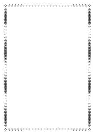 a4 borders: Decorative black frame, Arabic, oriental style. Pattern brush is included. A4 page format.