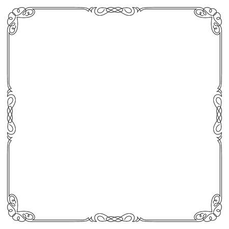 Décoratif cadre carré noir.