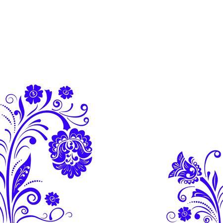 stencil flower: Abstract fancy flowers, stencil, decoration for card, window, door. Illustration