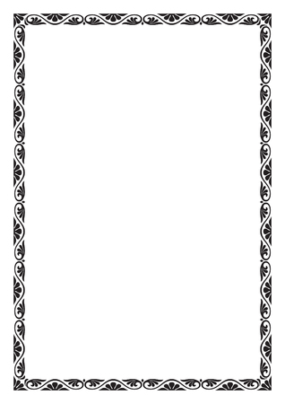 a4 borders: Decorative frame, A4 page proportions.