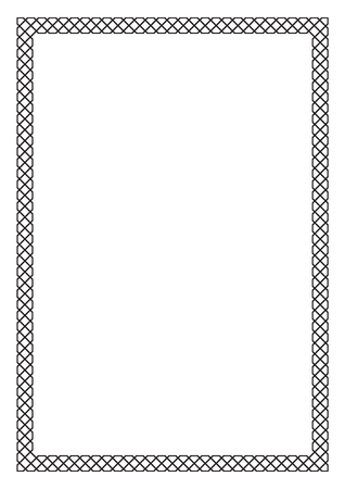 a4: Decorative black frame, Arabic, oriental style. A4 page format. Illustration