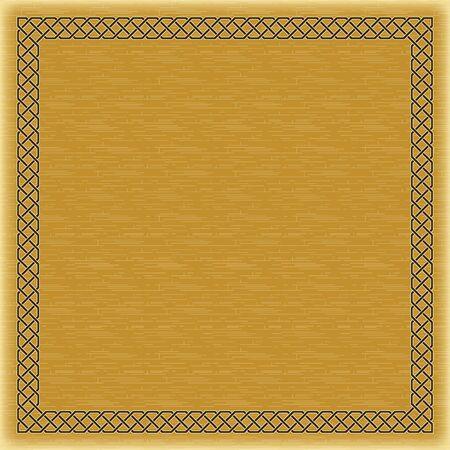 Décoratif couleur cadre carré, fond, arabe, style oriental.