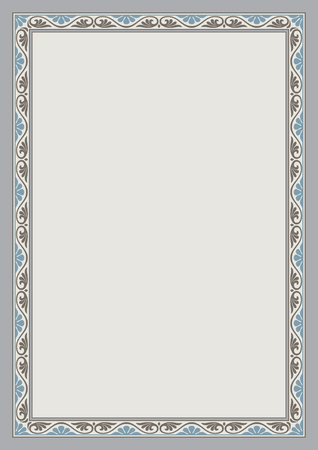 proportions: Decorative frame and background, A4 page proportions.
