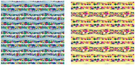river rock: River stones. Colorful seamless patterns. Swatches are included in the file. Illustration
