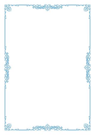 a4 borders: Decorative border. A4 page format.