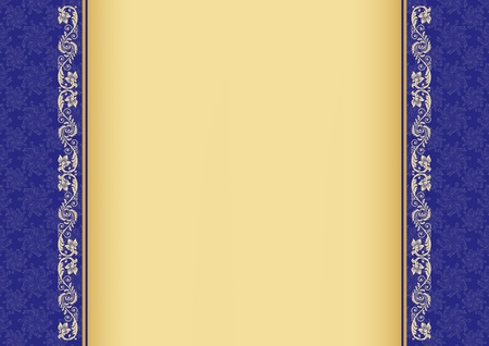 a4: Ornate border and background on A4 page.