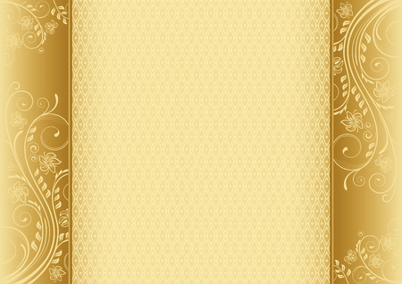a4 borders: Ornate border and background on A4 page.