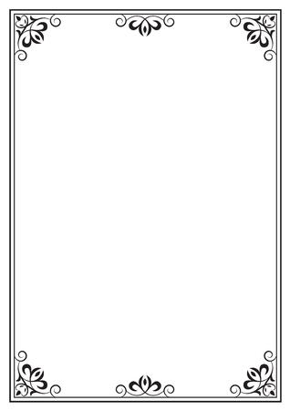 a4: Decorative black frame on A4 page.