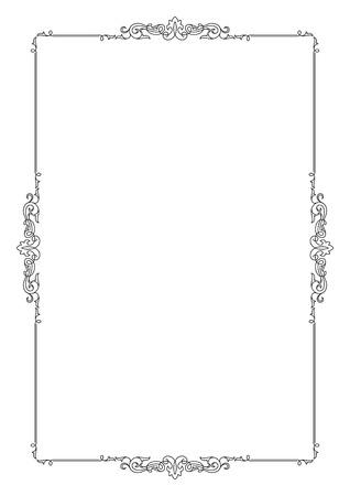 a4 borders: Decorative black border on A4 page.