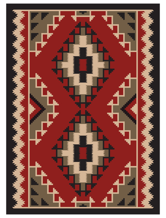 afghan: American Indians tribal blanket pattern.