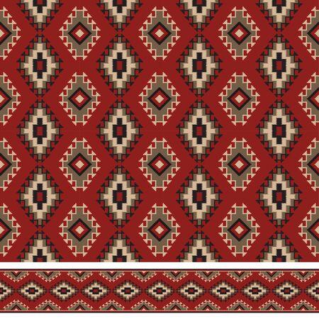 Seamless texture et une brosse à motif. Indiens d'Amérique le style Les tribal. brosse Pattern et swatch sont inclus dans le fichier vectoriel. Banque d'images - 63118410