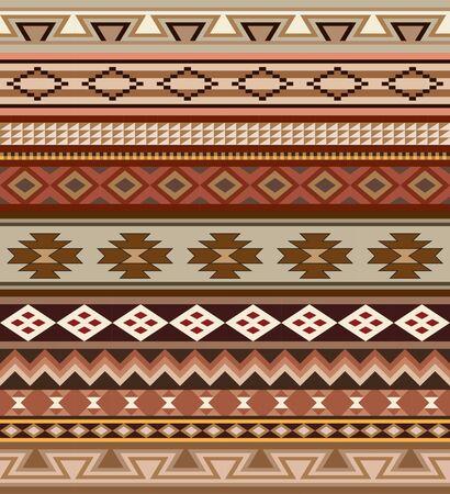 Ensemble des Indiens d'Amérique motifs tribaux. brosses de motifs sont inclus dans le fichier vectoriel. Banque d'images - 63118627