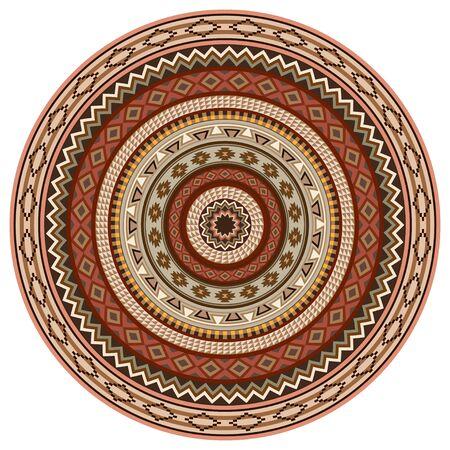 Ensemble des Indiens d'Amérique motifs tribaux. brosses de motifs sont inclus dans le fichier vectoriel. Banque d'images - 63118628