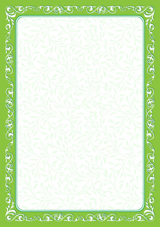 fill: Decorative frame and fill. Template for diploma, certificate. A4 size.