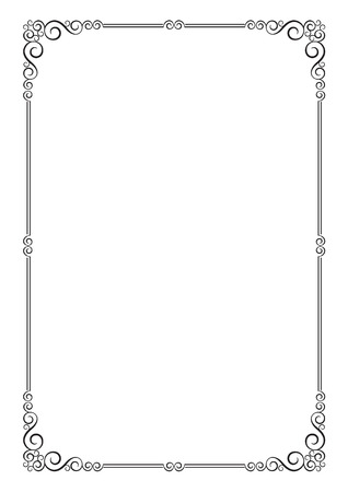 a4 borders: Ornate frame for diploma, certificate, advertisement. A4 page format.