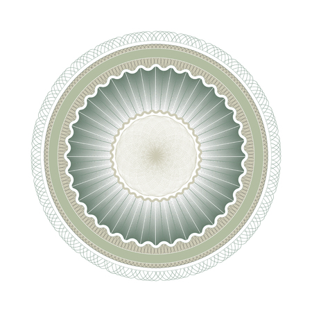Guilloche rosette, repetitive pattern for awards and securities.