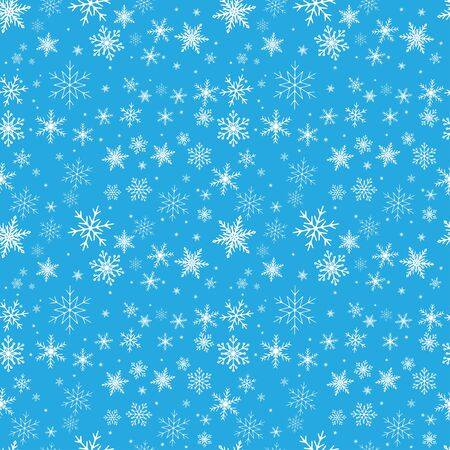 Seamless white pattern of snowflakes. Transparent background. Pattern swatch is included in vector file.