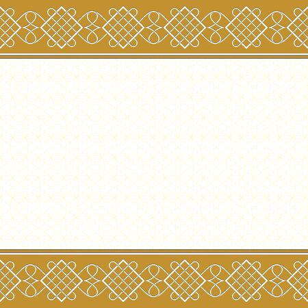 Template for certificate, banner with decorative patterns and background with a tangier grid. Illustration