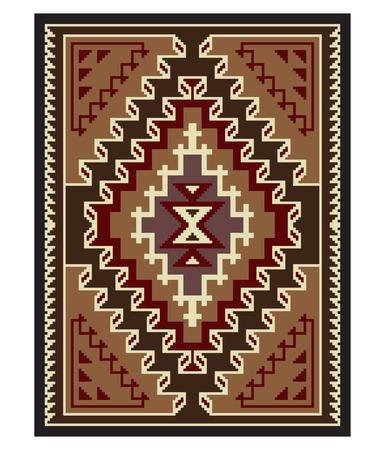 American Indians tribal blanket pattern.