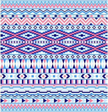 Geometric seamless pattern, American Indians tribal style. Çizim