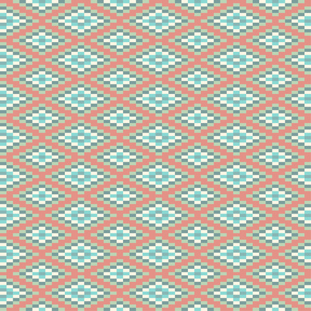 Geometric seamless pattern, American Indians tribal style. The swatch is included in vector file.