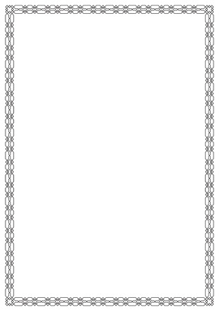 Geometric rectangular framework. A 4 page proportions. Arabic style.