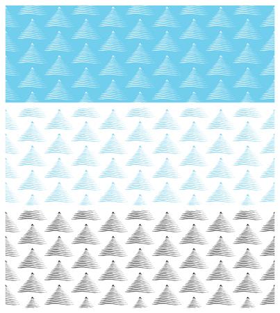 シームレスなクリスマス パターンのセットです。スウォッチが含まれています。繊維、梱包材、ウェブサイトの背景に最適です。