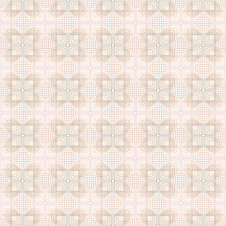 Seamless geometric pattern. Swatch is included. Appropriate for textile, packing materials, website backgrounds.