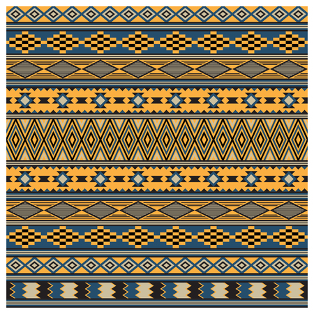 American Indians tribal texture, seamless pattern. Navajo style. Swatch is included in vector file.