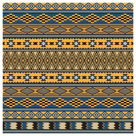 Textura tribal de indios americanos, patrones sin fisuras. Estilo Navajo Swatch está incluido en el archivo vectorial. Foto de archivo - 87110894