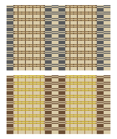 Seamless vector texture of bamboo curtain or thatched table mat. Swatch is included in vector file.