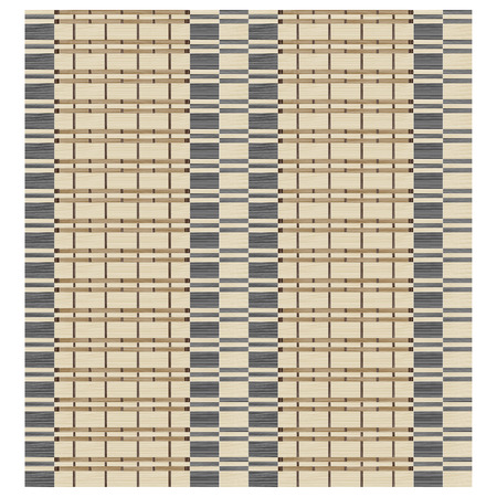Seamless texture of bamboo curtain or thatched table mat. Weaving effect. Swatch is included in vector file. Иллюстрация