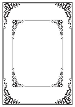 Ornate black rectangular frames.