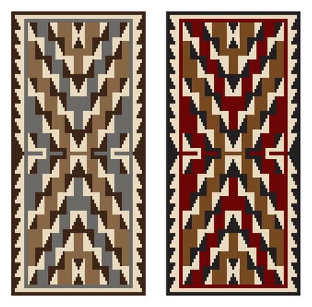 American Indians tribal blanket pattern. Navajo ethnic style.  イラスト・ベクター素材
