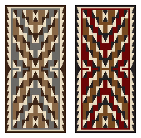 American Indians tribal blanket pattern. Navajo ethnic style. Ilustrace