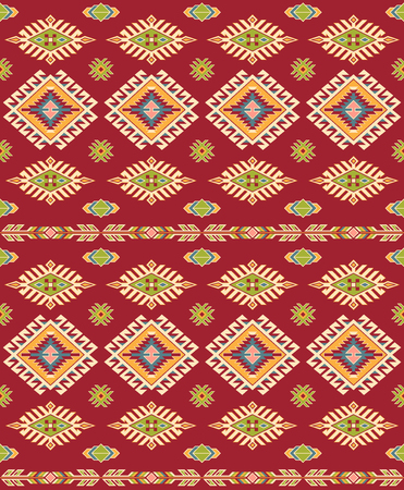 Seamless American Indians tribal pattern. Navajo ethnic style.