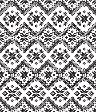Seamless geometric ethnic pattern. Philippine style. Black color, no background.