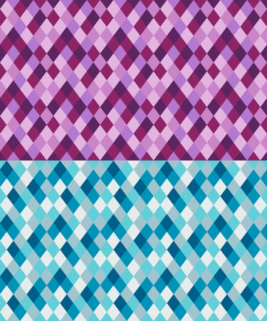 Seamless geometric pattern made from rhombuses. Two sets of similar colors.