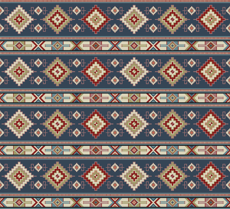 Seamless geometric pattern. Ancient Central Asian style, kilim. Natural colors. Illustration