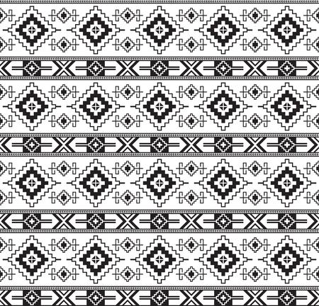 Naadloos zwart geometrisch patroon. Oude Centraal-Aziatische stijl, kilim. Transparante achtergrond.