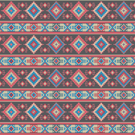 Seamless geometric pattern. Ancient Central Asian style, kilim. Stock Illustratie