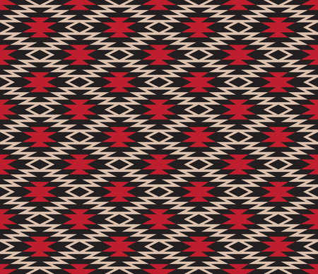 Seamless geometric pattern. American Indians ethnic style. Stock Illustratie